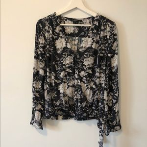 Lucky Brand Floral Wrap Top